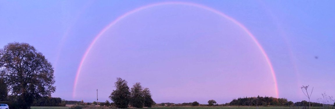 Picture of rainbow over Norwich & Norfolk Reiki Training.